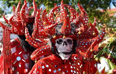 Diable rouge au carnaval de la Martinique