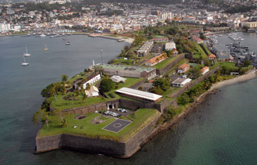 Le fort Saint-Louis en Martinique